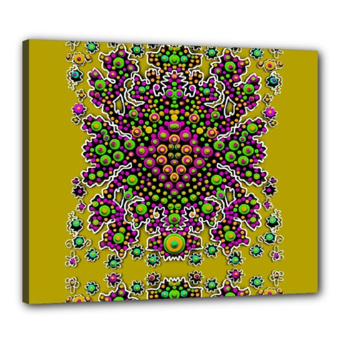 Fantasy Flower Peacock With Some Soul In Popart Canvas 24  X 20  by pepitasart