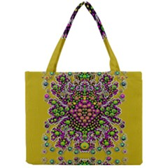 Fantasy Flower Peacock With Some Soul In Popart Mini Tote Bag by pepitasart