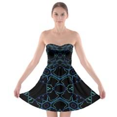 HUM DING Strapless Bra Top Dress