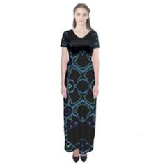 HUM DING Short Sleeve Maxi Dress