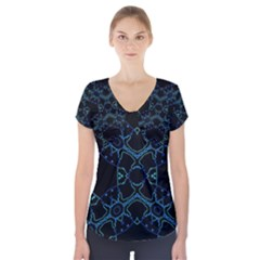 HUM DING Short Sleeve Front Detail Top