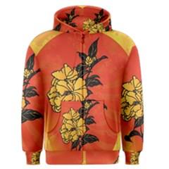 Vector Asian Flowers Men s Zipper Hoodie