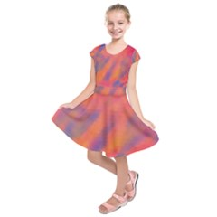 Smudges In Pink Kids  Short Sleeve Dress