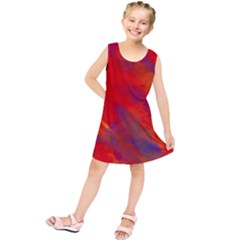 Smudges In Red Kids  Tunic Dress
