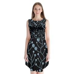 Blue Decor Sleeveless Chiffon Dress   by Valentinaart
