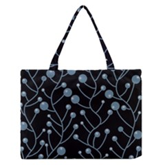 Blue Decor Medium Zipper Tote Bag