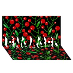Red Christmas Berries Engaged 3d Greeting Card (8x4)