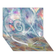 Spirals Heart Bottom 3d Greeting Card (7x5) by Contest2489503