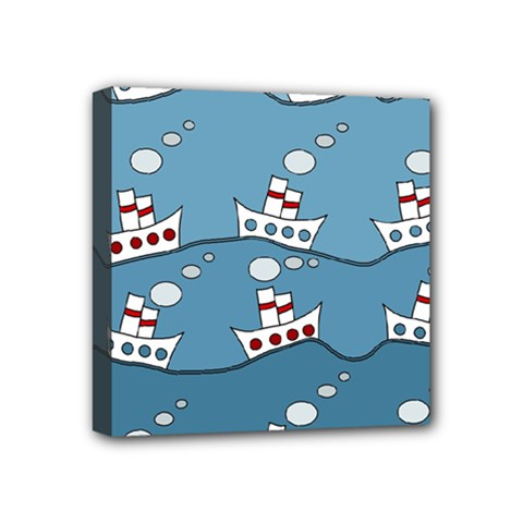 Boats Mini Canvas 4  X 4  by Valentinaart