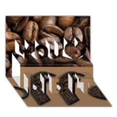 Funny Coffee Beans Brown Typography You Did It 3d Greeting Card (7x5) by yoursparklingshop