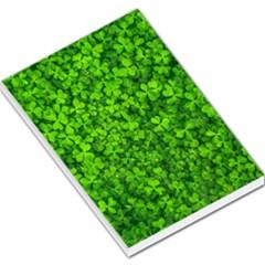 Shamrock Clovers Green Irish St  Patrick Ireland Good Luck Symbol 8000 Sv Large Memo Pads by yoursparklingshop