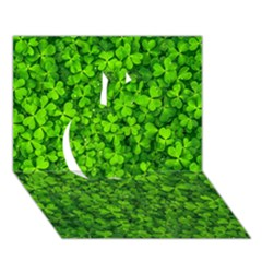Shamrock Clovers Green Irish St  Patrick Ireland Good Luck Symbol 8000 Sv Apple 3d Greeting Card (7x5) by yoursparklingshop