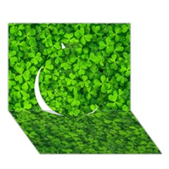 Shamrock Clovers Green Irish St  Patrick Ireland Good Luck Symbol 8000 Sv Circle 3d Greeting Card (7x5) by yoursparklingshop