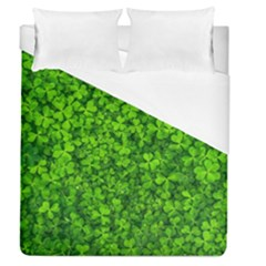 Shamrock Clovers Green Irish St  Patrick Ireland Good Luck Symbol 8000 Sv Duvet Cover Single Side (queen Size)