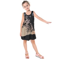 Inkwork Sunrise In Orange Kids  Sleeveless Dress