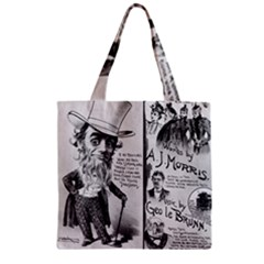 Vintage Song Sheet Lyrics Black White Typography Zipper Grocery Tote Bag by yoursparklingshop