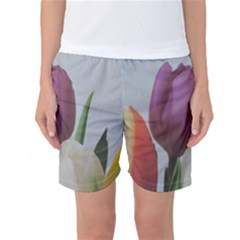 Tulips Women s Basketball Shorts by picsaspassion