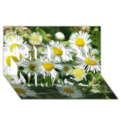 White Summer Flowers Watercolor Painting Art Merry Xmas 3d Greeting Card (8x4) by picsaspassion