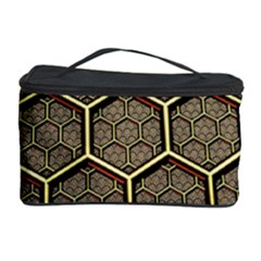 Texture Hexagon Pattern Cosmetic Storage Case by Zeze