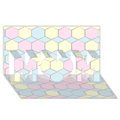 Colorful Honeycomb   Diamond Pattern Mom 3d Greeting Card (8x4) by picsaspassion