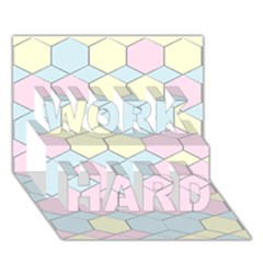 Colorful Honeycomb   Diamond Pattern Work Hard 3d Greeting Card (7x5) by picsaspassion