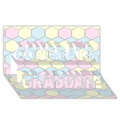 Colorful Honeycomb   Diamond Pattern Congrats Graduate 3d Greeting Card (8x4) by picsaspassion