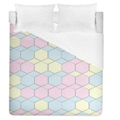 Colorful Honeycomb   Diamond Pattern Duvet Cover Single Side (queen Size)