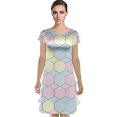 Colorful honeycomb - diamond pattern Cap Sleeve Nightdress by picsaspassion