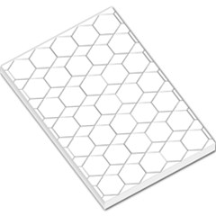 Honeycomb   Diamond Black And White Pattern Large Memo Pads by picsaspassion