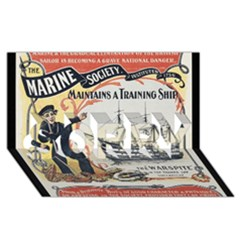 Vintage Advertisement British Navy Marine Typography Sorry 3d Greeting Card (8x4) by yoursparklingshop