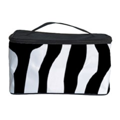 Zebra Horse Skin Pattern Black And White Cosmetic Storage Case by picsaspassion