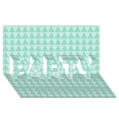 Mint Color Triangle Pattern Party 3d Greeting Card (8x4) by picsaspassion