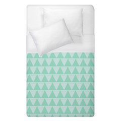 Mint Color Triangle Pattern Duvet Cover Single Side (single Size) by picsaspassion
