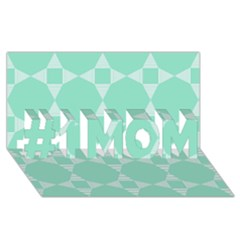 Mint Color Star   Triangle Pattern #1 Mom 3d Greeting Cards (8x4) by picsaspassion