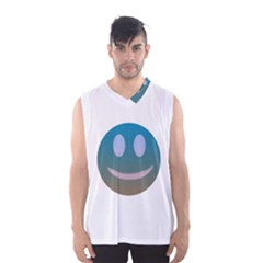 Smiley Men s Basketball Tank Top by picsaspassion