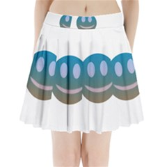 Smiley Pleated Mini Skirt by picsaspassion