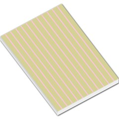 Summer Sand Color Pink Stripes Large Memo Pads