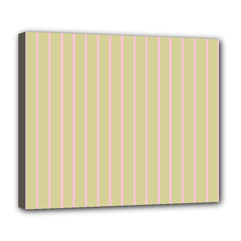 Summer Sand Color Pink Stripes Deluxe Canvas 24  X 20   by picsaspassion