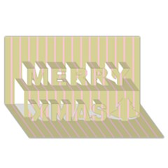 Summer Sand Color Pink Stripes Merry Xmas 3d Greeting Card (8x4) by picsaspassion