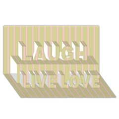 Summer Sand Color Pink Stripes Laugh Live Love 3d Greeting Card (8x4) by picsaspassion
