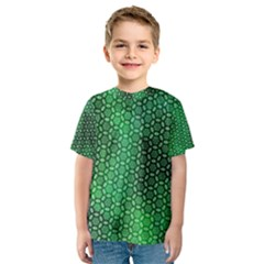 Green Abstract Forest Kids  Sport Mesh Tee by DanaeStudio