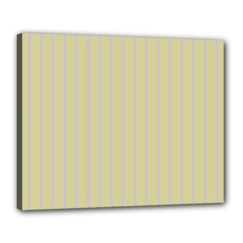 Summer sand color lilac stripes Canvas 20  x 16  by picsaspassion