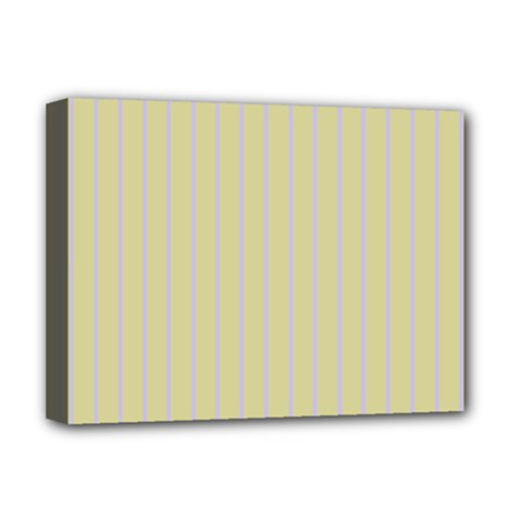 Summer Sand Color Lilac Stripes Deluxe Canvas 16  X 12   by picsaspassion