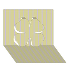 Summer Sand Color Lilac Stripes Clover 3d Greeting Card (7x5)