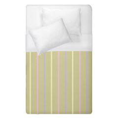 Summer Sand Color Lilac Pink Yellow Stripes Pattern Duvet Cover Single Side (single Size) by picsaspassion