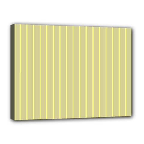 Summer Sand Color Yellow Stripes Pattern Canvas 16  X 12  by picsaspassion