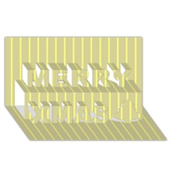 Summer sand color yellow stripes pattern Merry Xmas 3D Greeting Card (8x4) by picsaspassion