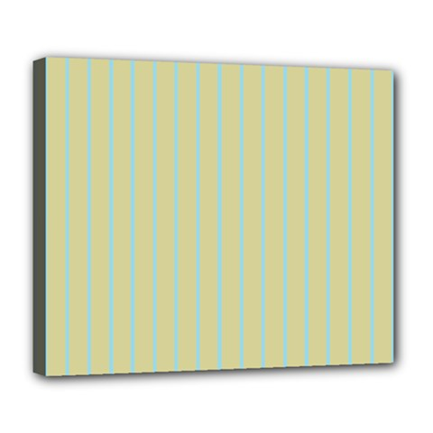 Summer Sand Color Blue Stripes Pattern Deluxe Canvas 24  X 20   by picsaspassion