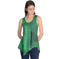 Green Abstract Forest Sleeveless Tunic