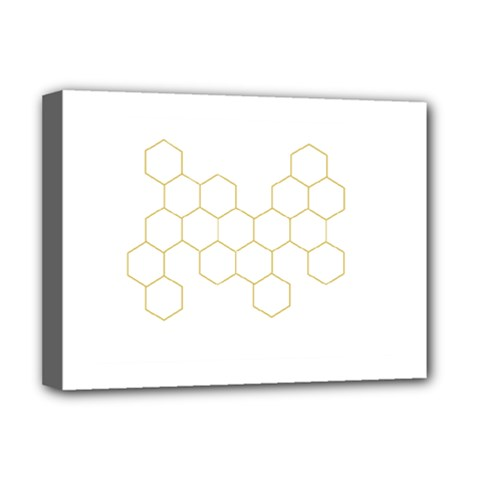 Honeycomb Pattern Graphic Design Deluxe Canvas 16  X 12  (stretched)  by picsaspassion
